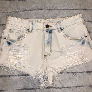 White washed shorts